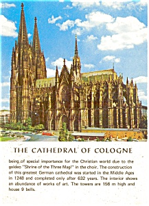 Cologne Germany Cathedral Postcard P2453