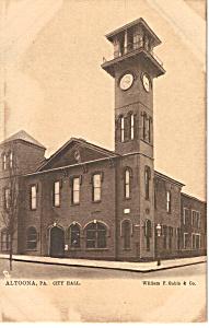 Altoona PA City Hall Raphael Tuck Postcard p24558 (Image1)