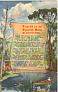 Legend of the Spanish Moss in Louisiana (Image1)