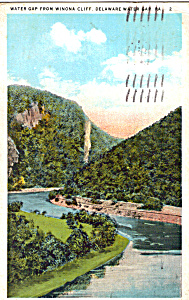 Delaware Water Gap From Winona Cliff (Image1)
