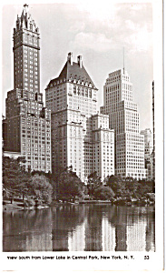 Hotels Along Central Park New York City RPPC p24654 (Image1)