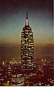 Empire State Building at Night New York City p24655 (Image1)