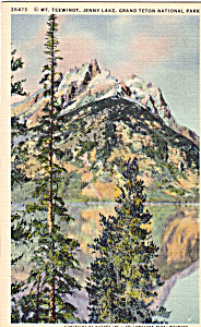 Mt Teewinot, Jenny Lake, Grand Teton National Park