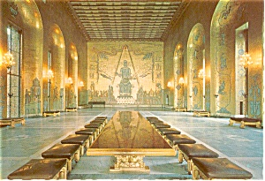 Stockholm Sweden City Hall Postcard (Image1)