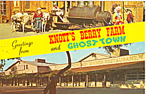 Old Betsy,Knotts Berry Farm Postcard p24751 (Image1)