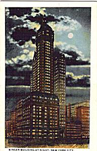 Singer Building at Night New York City p24787 (Image1)