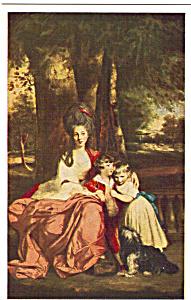 Lady Elizabeth Delme and Her Children Reynolds Postcard p24800 (Image1)