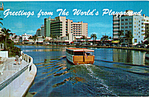 Boats on Lake Pancoast,Miami Beach  Florida p24836 (Image1)