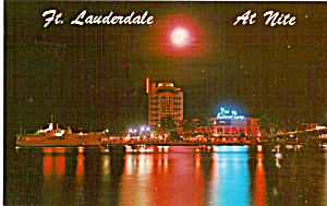 Night View of Pier 66 Ft Lauderdale  Florida p24838 (Image1)