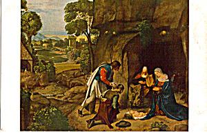 The Adoration of the Shepherds Giorgione Postcard p24849 (Image1)