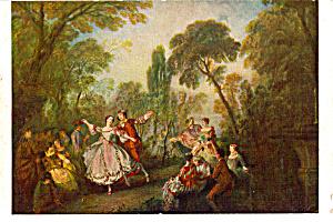 La Camargo Dancing Lancret Postcard p24850 (Image1)