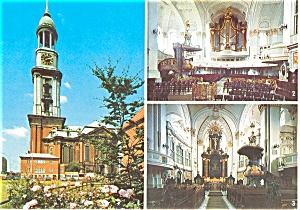 Hamburg Germany St Michaels Church Postcard p2489 (Image1)
