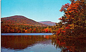 Autumn Lake And Foliage Postcard P24914