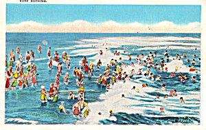 Surf Bathers Postcard P24980