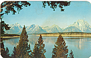 Teton Range Reflected In Jackson Lake