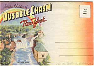 Souvenir Folder Ausable Chasm Ny P2498