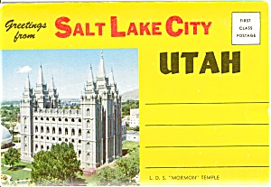 Souvenir Folder Salt Lake City Ut