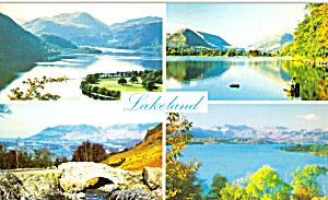 English Lakes Old Lakeland Dialect Souvenir Postcard (Image1)