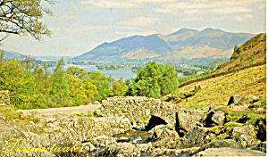 Derwentwater England Old Lakeland Dialect Souvenir Postcard p25066 (Image1)