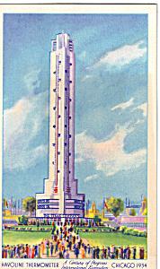 Havoline Thermometer Century of Progress Postcard p25081 (Image1)