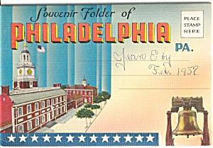 Souvenir Folder Philadelphia PA p2511 (Image1)