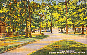 Camp Ground Endless Caverns Virginia Postcard P25167