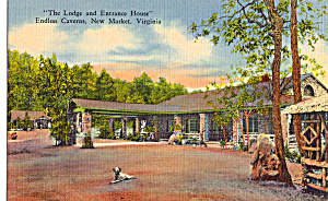 The Lodge Endless Caverns Virginia Postcard P25169