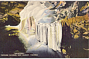 Snowdrift Endless Caverns Virginia Postcard P25177