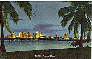 Tropical Miami FL Postcard p25243 (Image1)
