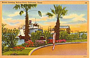 Scenic Landing Bolivar Ferry Galveston Texas p25288 (Image1)