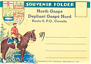 Souvenir Folder North Gaspe Pq Canada