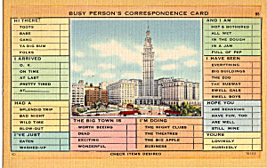 Busy Person S Correspondence Post Card P25333