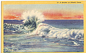 A Breaker On The Atlantic Ocean Postcard P25338