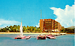 Hilton Hawaiian Village Postcard P25343