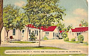 Maple Lodge Tourist Cabins  Wahoo Nebraska p25371 (Image1)
