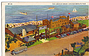 The Lincoln Group Chicago World S Fair Postcard P25399