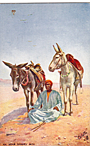 An Arab Donkey Boy, Picturesque Egypt Raphael Tuck