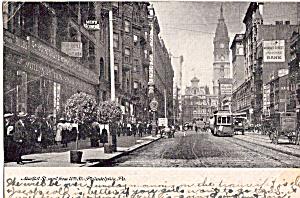 Market Street West from 10th Street Trolley Philadelphia PA  p25432 (Image1)