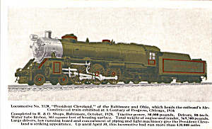 Locomotive No 5326 President Cleveland of the B and O p25532 (Image1)
