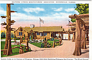 Exhibit Cabin Of Tidewater Red Cypress Chicago Fair P25537
