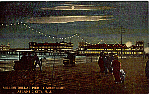 Million Dollar Pier By Moonlight Atlantic City Nj P25550
