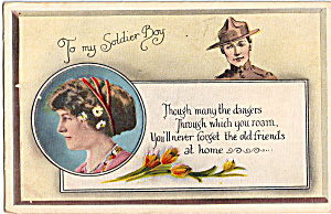 To My Soldier Boy Postcard p25573A (Image1)
