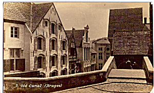 Old Canal Bruges Picturesque Belgium Postcard P25642