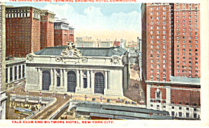 Grand Central Terminal Showing Hotel Commodore P25654