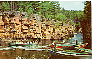 Flat Bottom Boats Ausable Chasm New York P25677