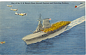 A Us Navy Giant Aircraft Carrier P25678