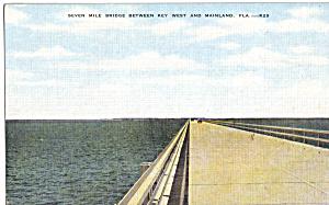 Seven Mile Bridge Florida Keys Postcard p25707 (Image1)