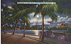 Moonlight On Lake Worth West Palm Beach Florida P25727