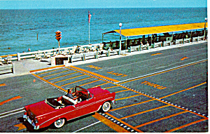 56 Chevy Convertible at Beach at Lake Worth Florida (Image1)