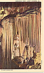 Saracen S Tent Luray Caverns Virginia Postcard P25768